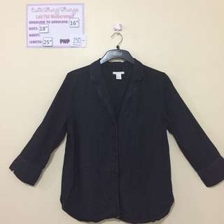 H&M Black Long Sleeved Blazer