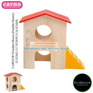 CARNO® Hamster Wooden House (Double Storey)