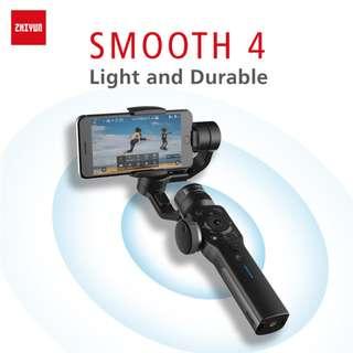 Zhiyun Tech Smooth 4 Smartphone Gimbal (Black) with Free Mini Tripod