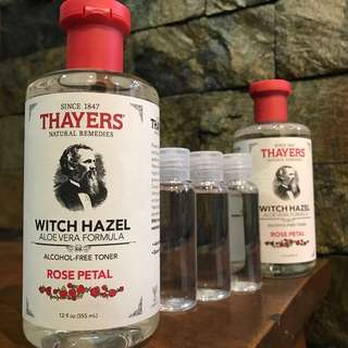 Thayers Witch Hazel Toner Trial Bottles