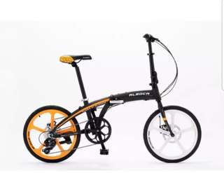"Alleoca foldable bike ""20""  8 speed"