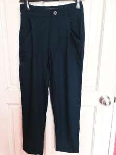Zara Trafaluc Blue Baggy Folded Trouser