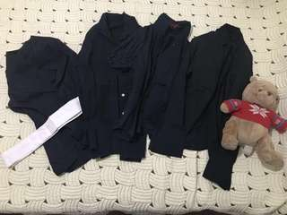 Assorted Women's Button Down Polo (black set)