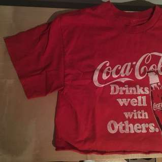 Coca Cola cropped shirt