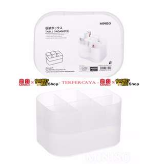 Japan Quality - 6-section Clear Table Organiser 2-Piece Set