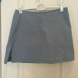 Light blue mini skort