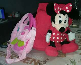 Kids Minnie Mouse Bag and Sling Bag