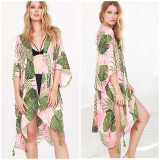 BNWT Palm leaf kimono/wrap