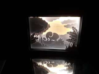 3D light box (gajah)