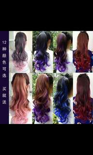 Preorder korean gradient highlight ponytail hair extension * waiting time 15 days after payment is made *chat to buy to order