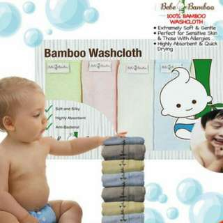🚉Brand New Bebe Bamboo Washcloth