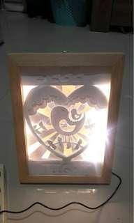 3D light box (bird)