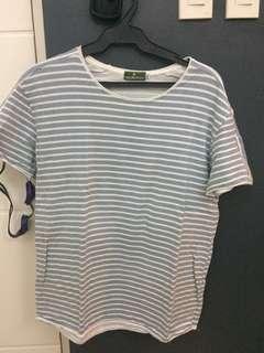 Coco cabana sky blue striped shirt