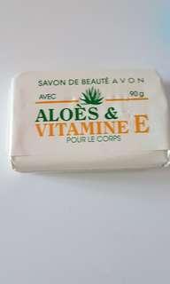 new! aloe and vitamin e bar soap!