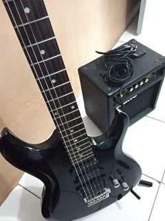 Dijual Gitar listrik merk Caraya + amply merk Smarvo + Stand gitar + kabel nya. Hubungi whatsapp 081911089270