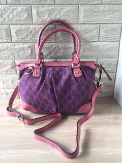 Gucci Canvass Twi Way Bag