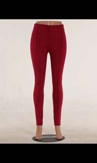 Suede Red Pants