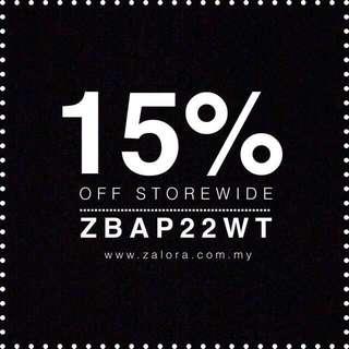 15% OFF ZALORA CODE!