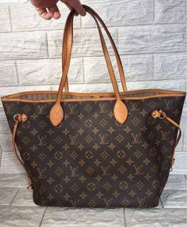 Louis Vuitton Lv Neverfull MM Canvas Monogram