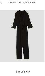 Zara jumpsuit black white sided 1500 sale