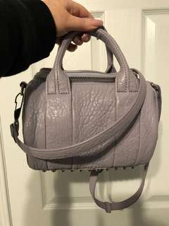 Alexander Wang mini Rockie bag in pebbled lavender leather