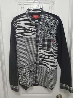 BNWT genuine Supreme patchwork flannel