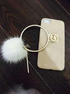 🚚 Iphone567手機殼 毛毛 圈圈
