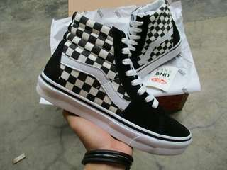 Vans Sk8-Hi Checkerboard Black White