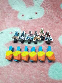 Set of 2 - Wooden Clips