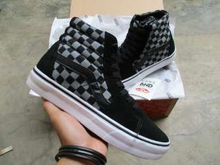 Vans Sk8-Hi Checkerboard Grey Black