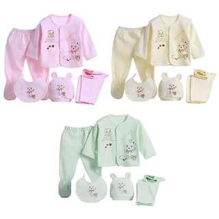 (PO: 1Week) Baby Clothes Set 5pcs