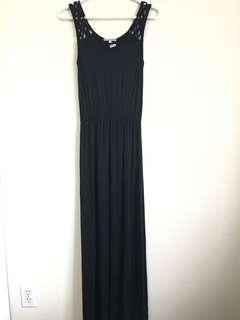 Black Maxi Dress, Size S