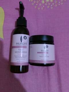 SUKIN SENSITIVE CARE MOISTURIZER 125ml 80%+ SUKIN SENSITIVE NIGHT CREAM 95% 120ML
