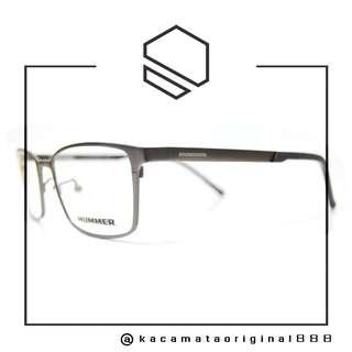 Frame Kacamata Original HUMMER H568. Pria. Model Kotak. Metal Titanium