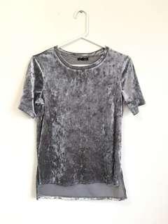 Dynamite Crushed Velvet Shirt, size XS