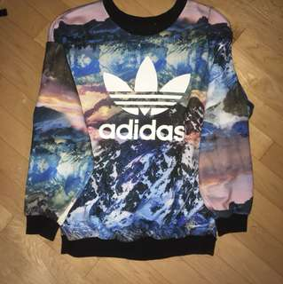 Adidas graphic sweatshirt