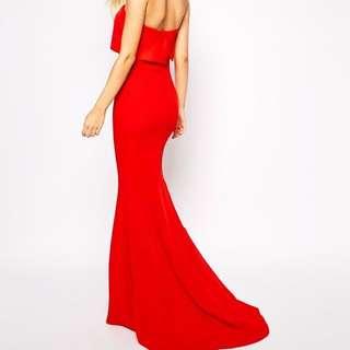 JARLO Red Blaze Gown