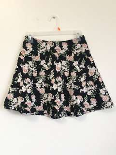 F21 Floral Skirt, size M