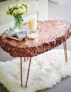 Rose gold coffee table!