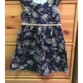 Tailor made Blue Kids Dress