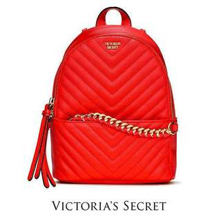 AUTHENTIC VICTORIA SECRET  QUILTED CHAIN BACKPACK