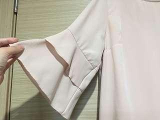 Blush Bell Sleeves Dress