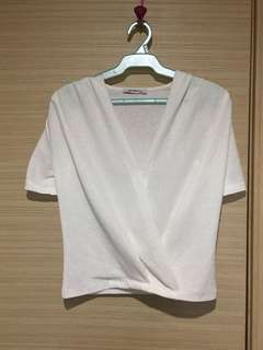 Zara wrap white top