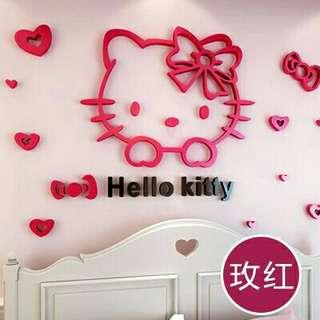 🚚 Hello Kitty立體3D壁貼 大號  現貨