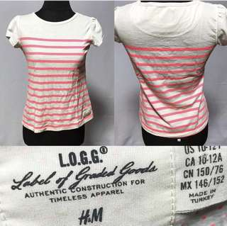 H&M Neon Pink Striped Top