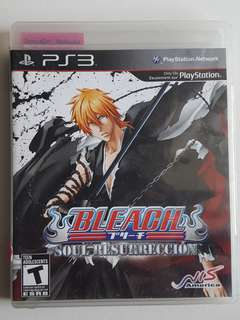 Ps3 Bleach Soul Resurreccion Game