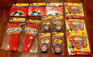 New & Original Mickey Mouse Party Supplies (144 pcs)