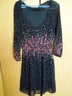 Drop down sale - Berskha Black Floral Dress
