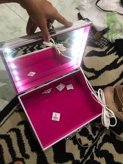 REPRICED!! Brand New Makeup Box with lights and lock