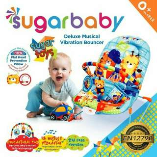 Bouncher bouncer sugar baby recline baru